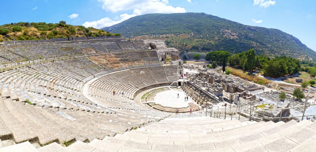 Ephesos Amphitheatre in Ephesus Turkey