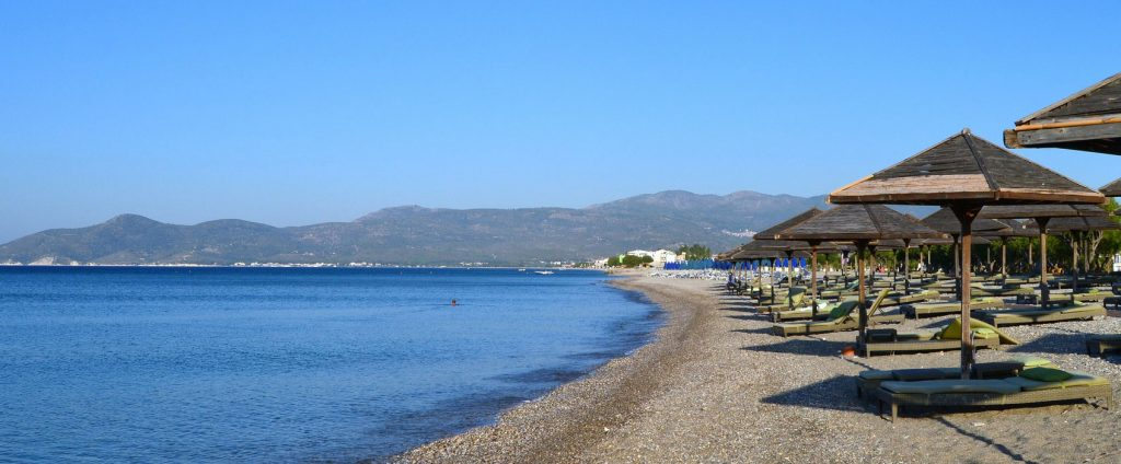 Potakaki Beach on Samos Greek island