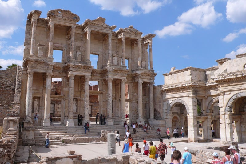 The Library of Celsus Roman building in Ephesus Anatolia Selcuk Turkey