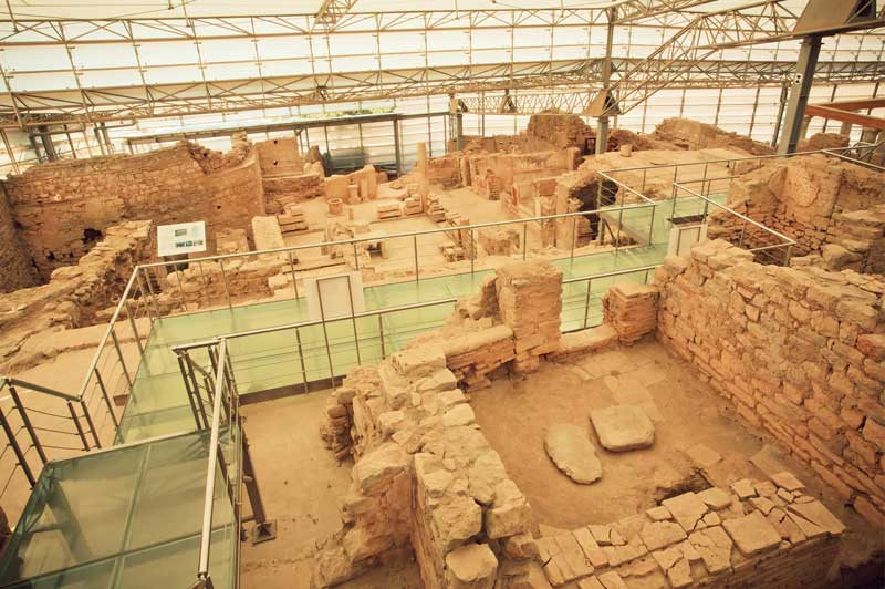 archaeological complex terrace sloped houses