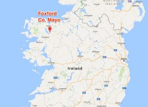 Foxford County Mayo on Map of Ireland - Birthplace of Guillermo Brown