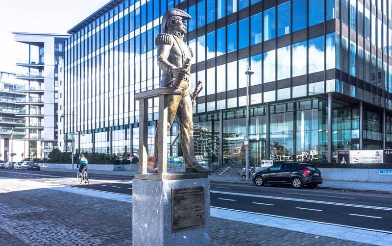William Brown statue in Dublin's Docklands
