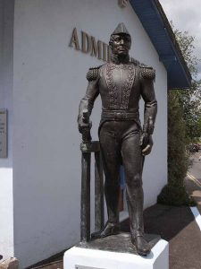admiral william brown statue in foxford co Mayo Ireland
