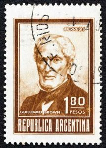Argentina stamp shows Admiral William Brown