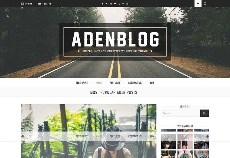 Aden WordPress Blog Theme
