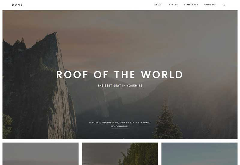 Dune Theme from ZigZagPress - A WordPress theme for Travel blogs