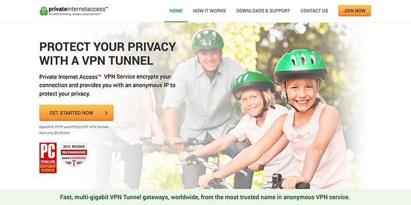 Private Internet Access VPN Website