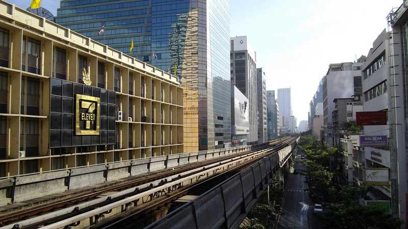 Bangkok BTS Skytrain transport system