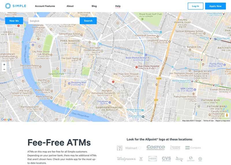 simple.com ATM finder
