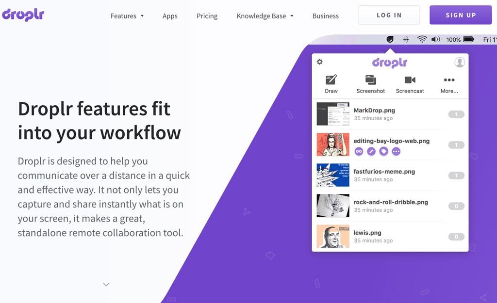 droplr image and file sharing app for freelancers and digital nomads