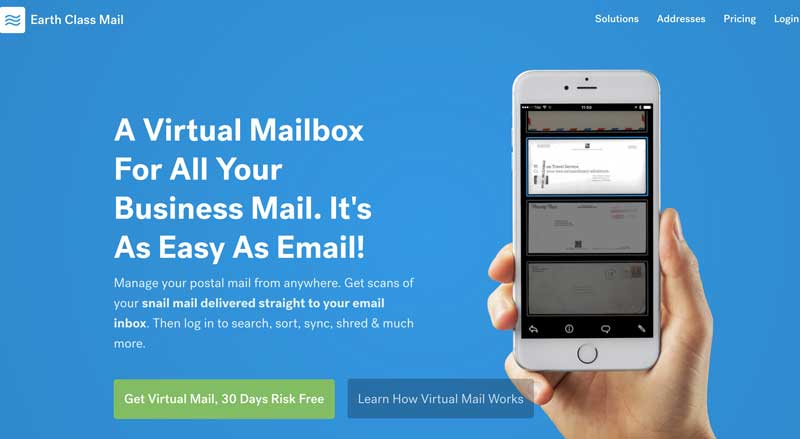 earth class mail app for digital nomads and travellers