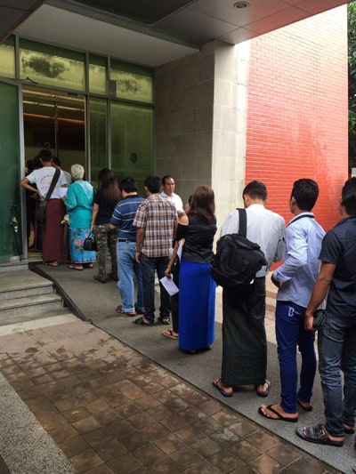 embassy of thailand in yangon myanmar visa run queue