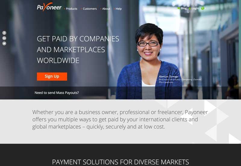 payoneer get paid online