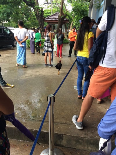 thail embassy yangon visa queue