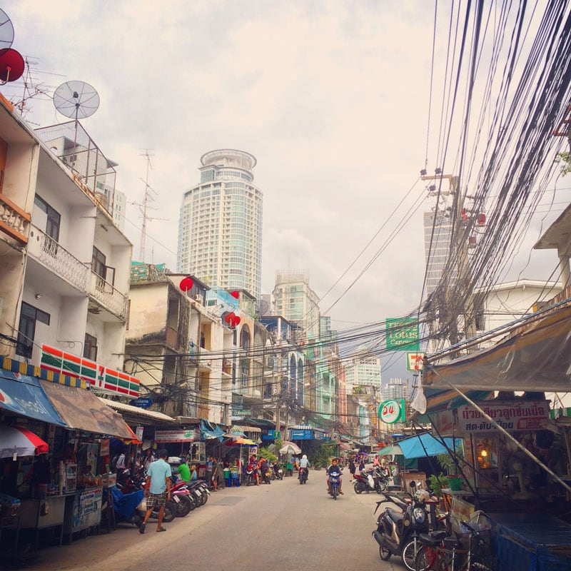 The streets of Bangkok Thailand