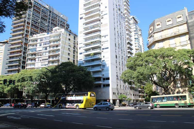 Buenos Aires Apartment blocks next to Avenida del Libertador