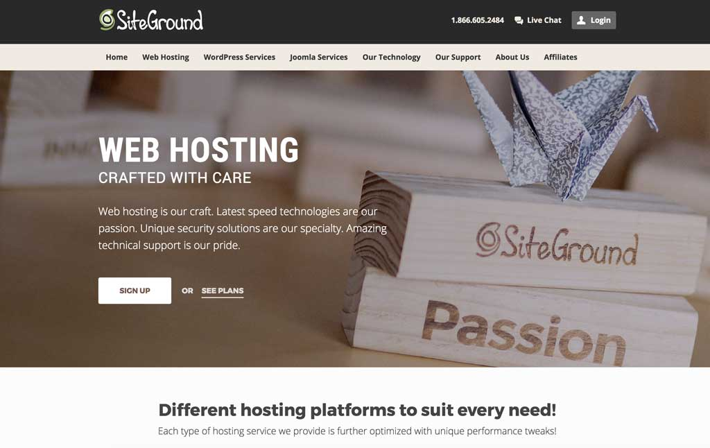 SiteGround WordPress hosting for travel blogs