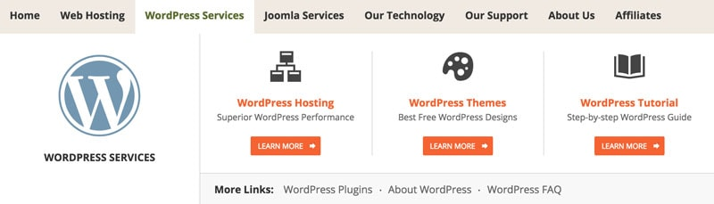 WordPress hosting option on SiteGround
