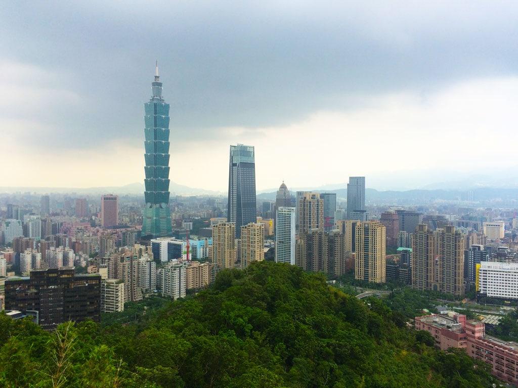 View of the Taipei 101 tower