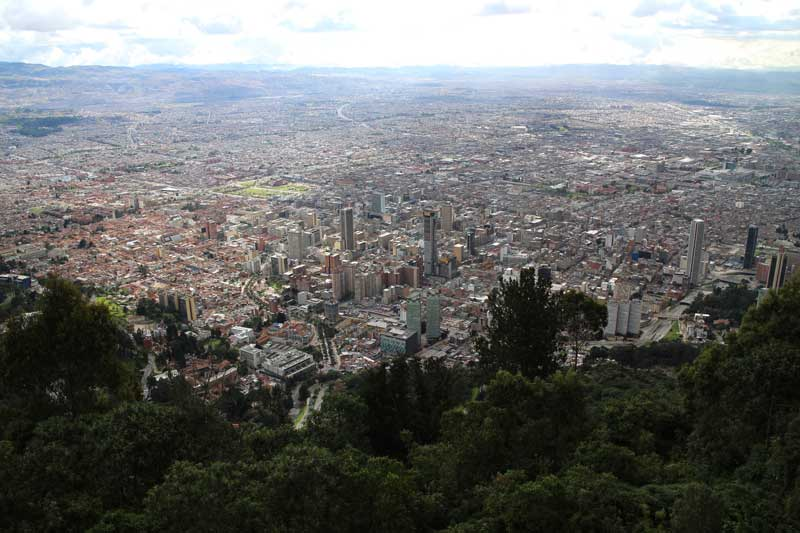 Bogota city from Cerro Monserrate