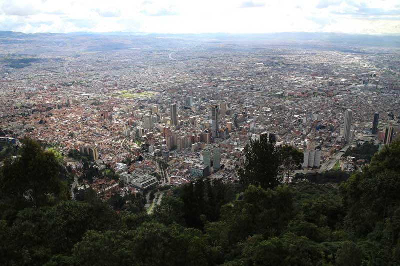Bogota city from Cerro Monserrate