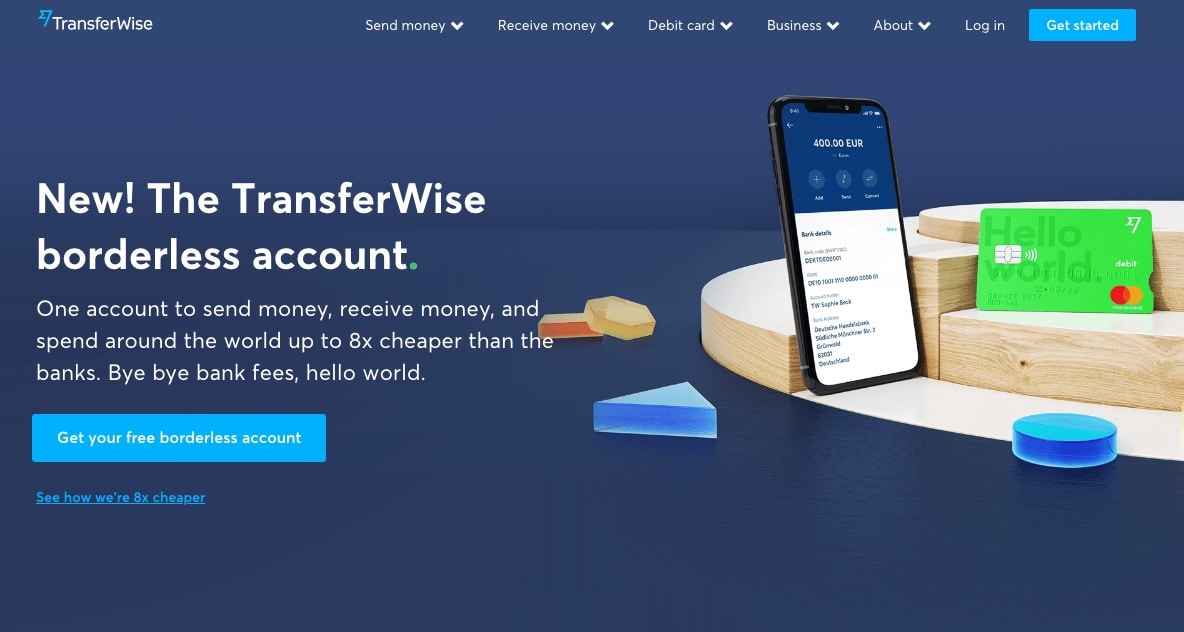 transferwise borderless account website login