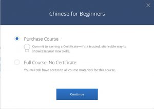 coursera learn chinese for beginners