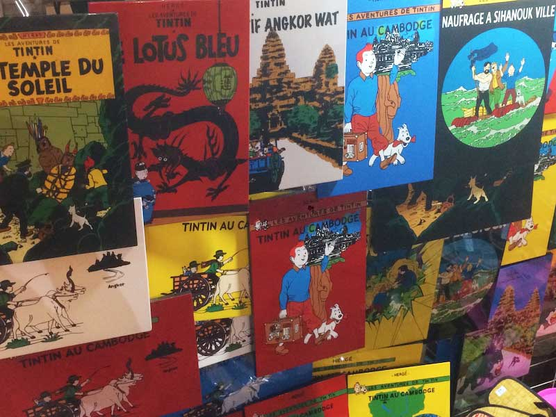 Tintin books - Cambodian book stores