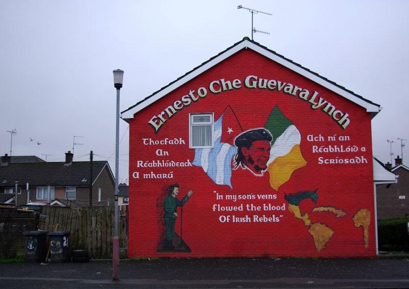 Che Guevara Lynch Irish roots mural in Derry Northern Ireland