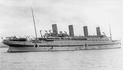 The Britannic ship