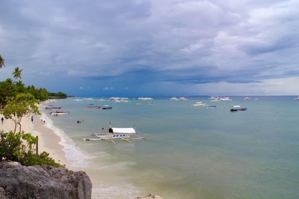 Panglao Beach, Bohol, near Cebu. A great place for Nomads in the Philippines to relax