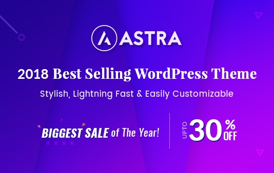 astra theme black friday 30 percent discount