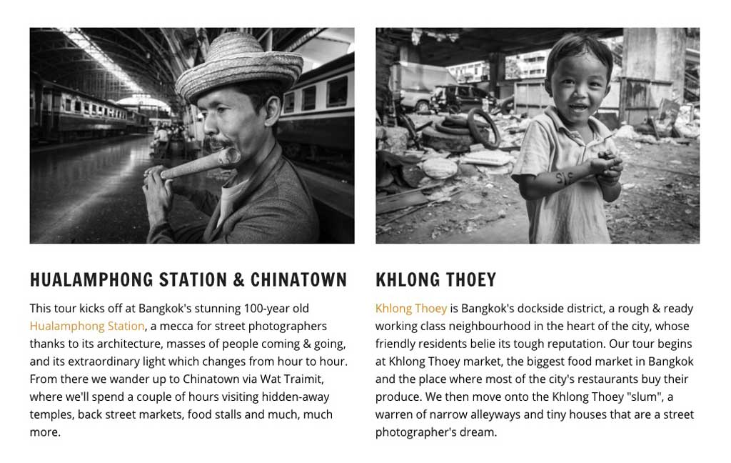 Tim Russell photography bangkok photo tours itineraries