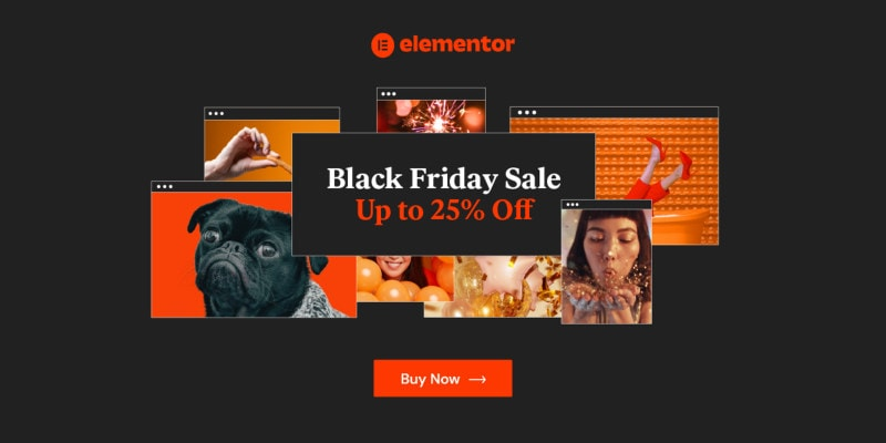 Elementor Black Friday Deal 2020
