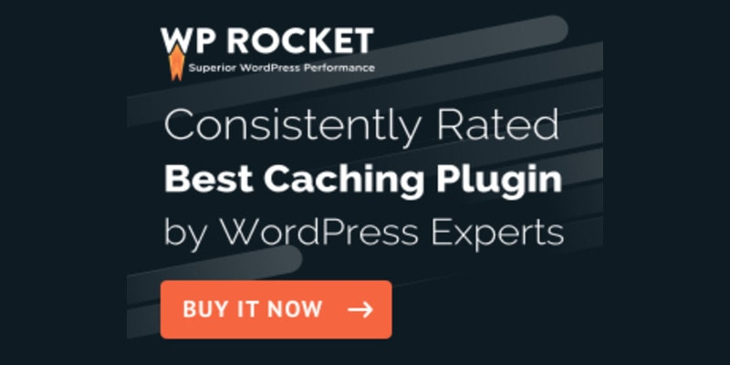 WP rocket cache plugin for wordpress