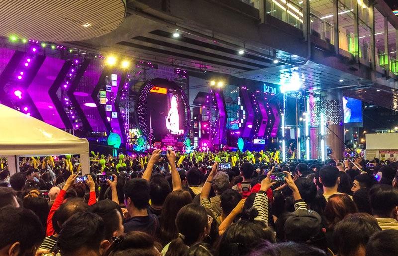Bangkok Thailand on New Year's Eve