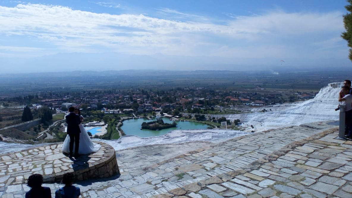 pamukkale is a popular place to get married