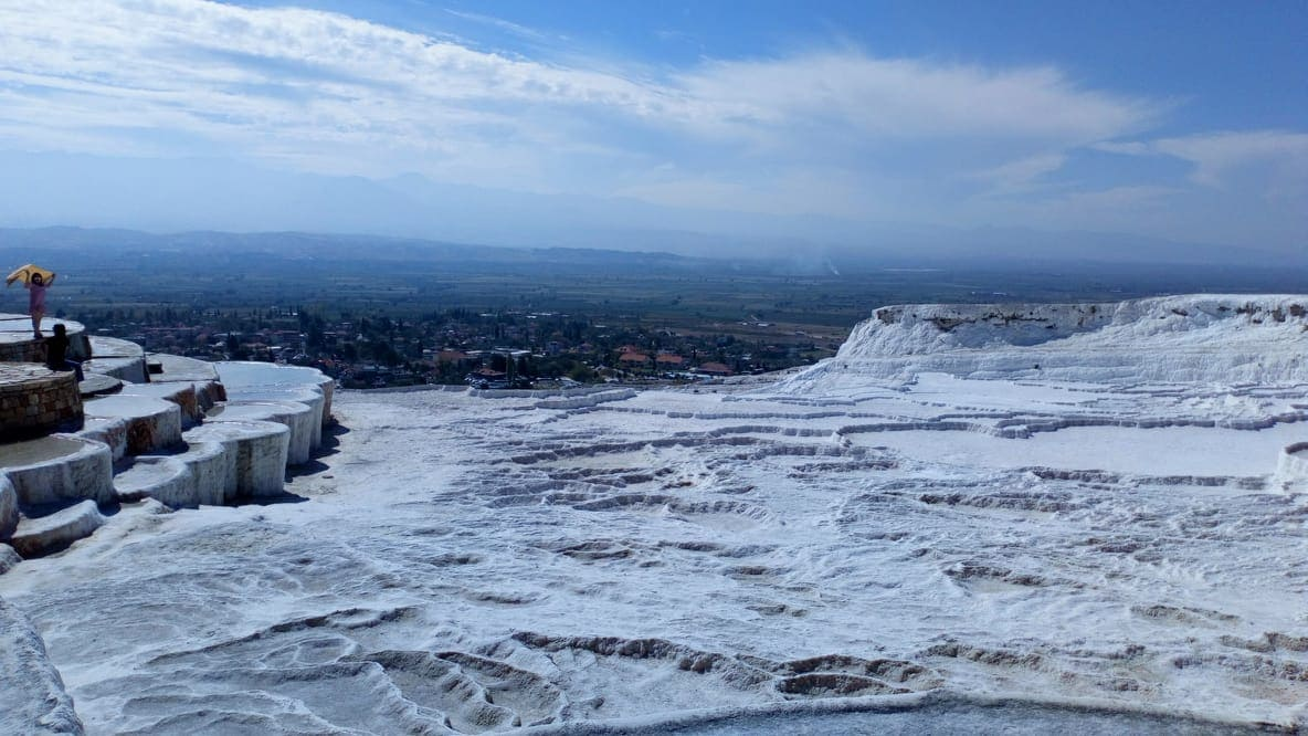 white mineral pools of Pamukkale