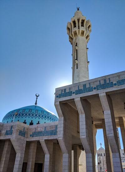 King Hussein Blue- Mosque - Amman, Jordan
