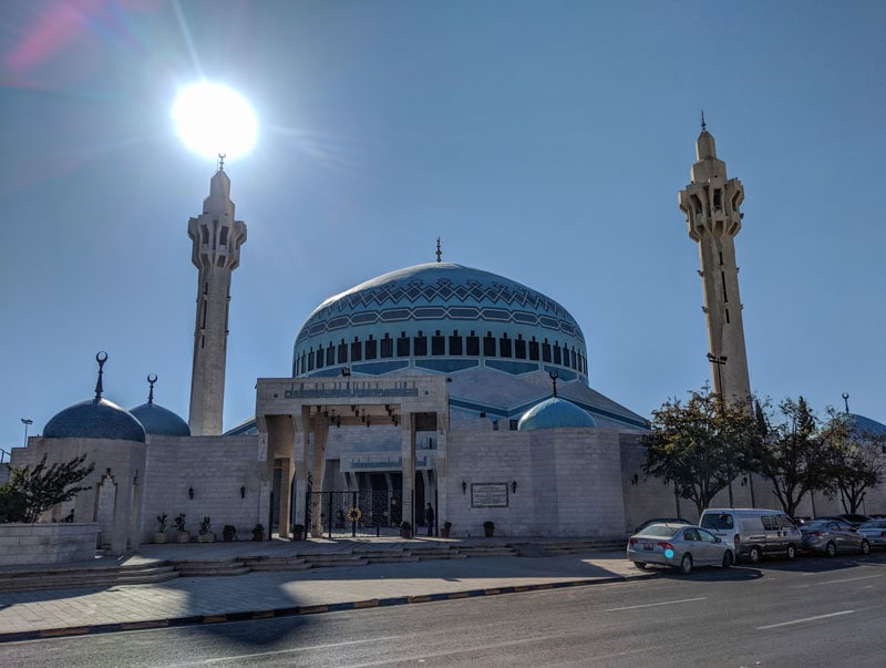 King Hussein mosque of Amman - The blue Mosque