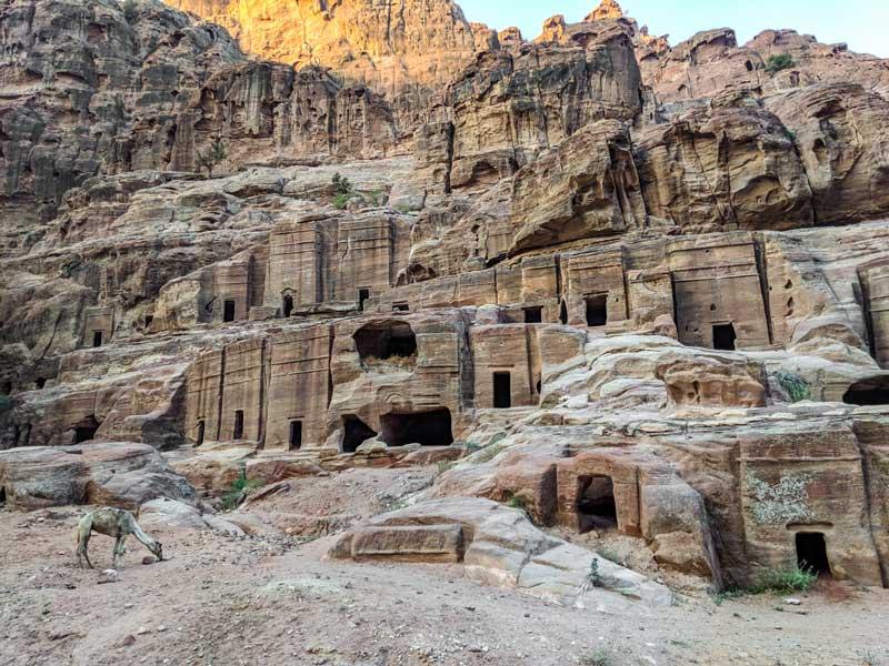 living quarters and buildings in Petra, Jordan