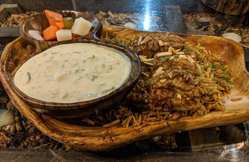 Sayadieh fish dish in Rakwet Kanaan restaurant  Aqaba