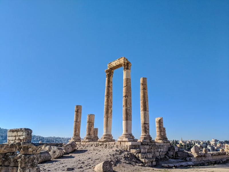 The temple of Hercules at the Citadel in Amman