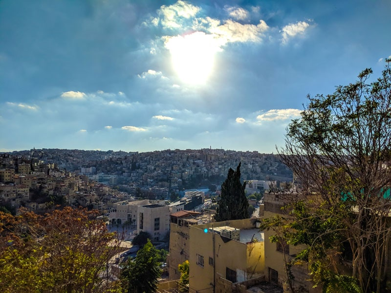 View of Amman, Jordan from the city hills