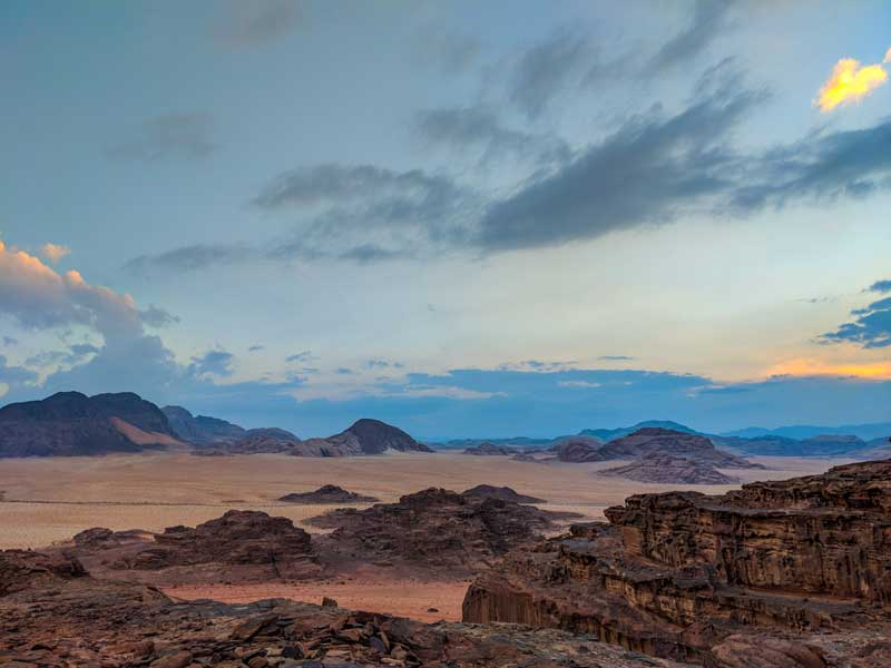 View from high in Wadi Rum