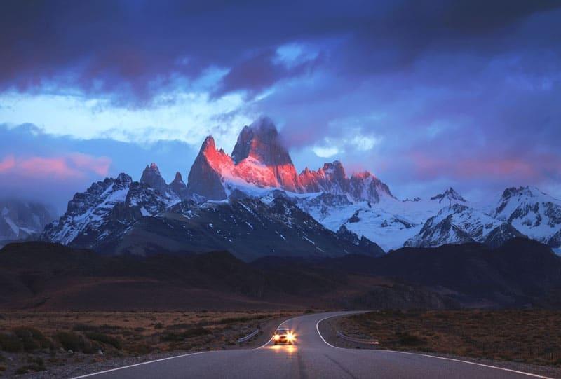 Argentina's mount Fitz Roy in los glaciares Patagonia