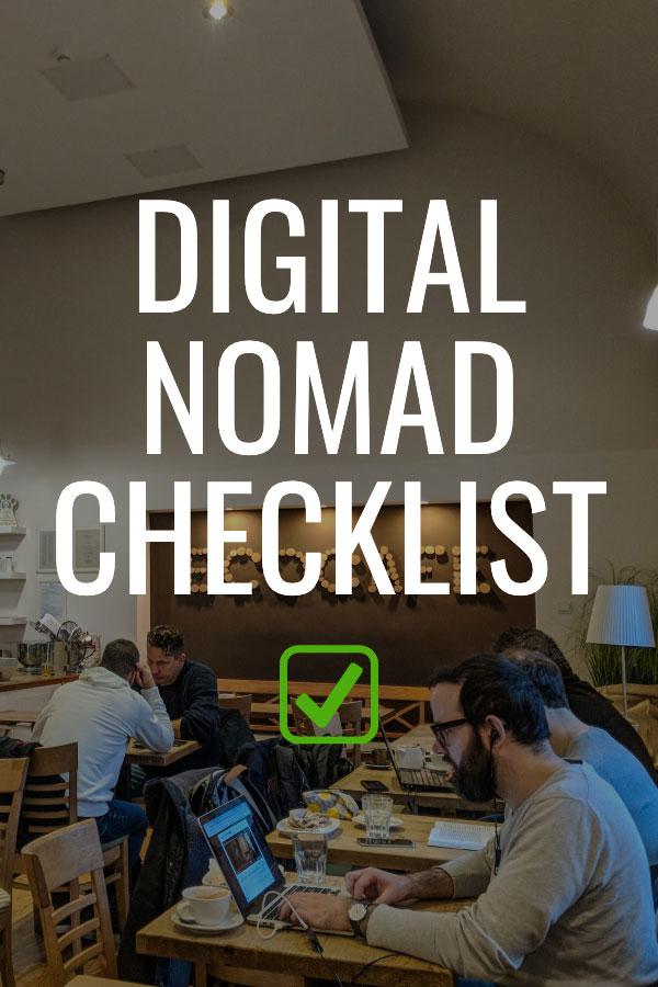Digital Nomad Checklist - Nomads working in Cafe