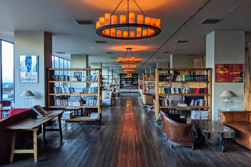 Library Cafe With Travel Books Rooms Hotel