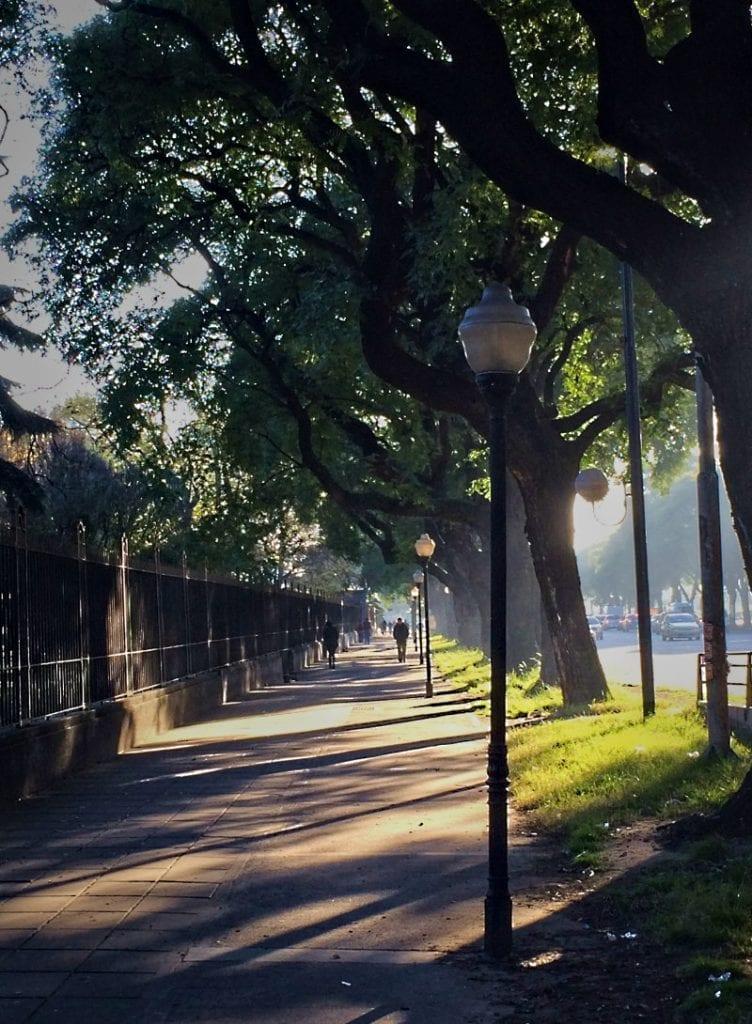 buenos aires street scene. Avenida Bulrich