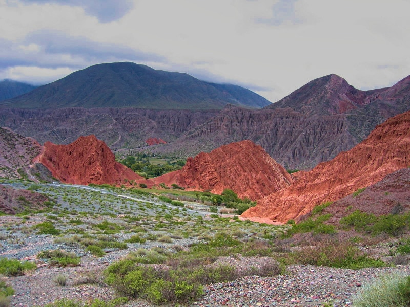 colourful hills near pumamarca